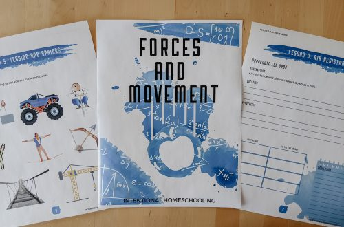 Forces and Movement Homeschool Science Subject Study - a great homeschool science unit study for elementary