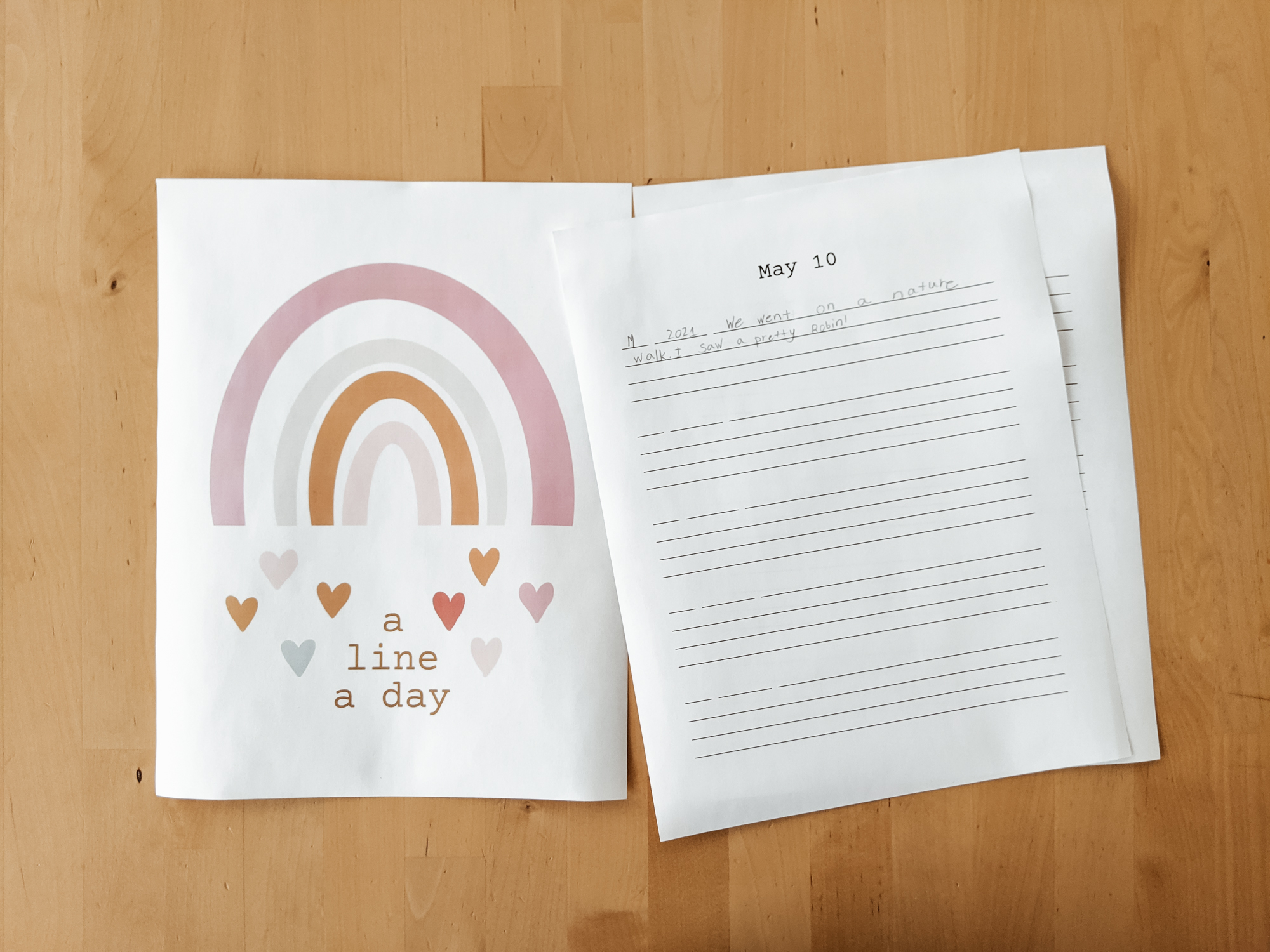 A Line A Day Journal for Kids and Mom - great for memory keeping
