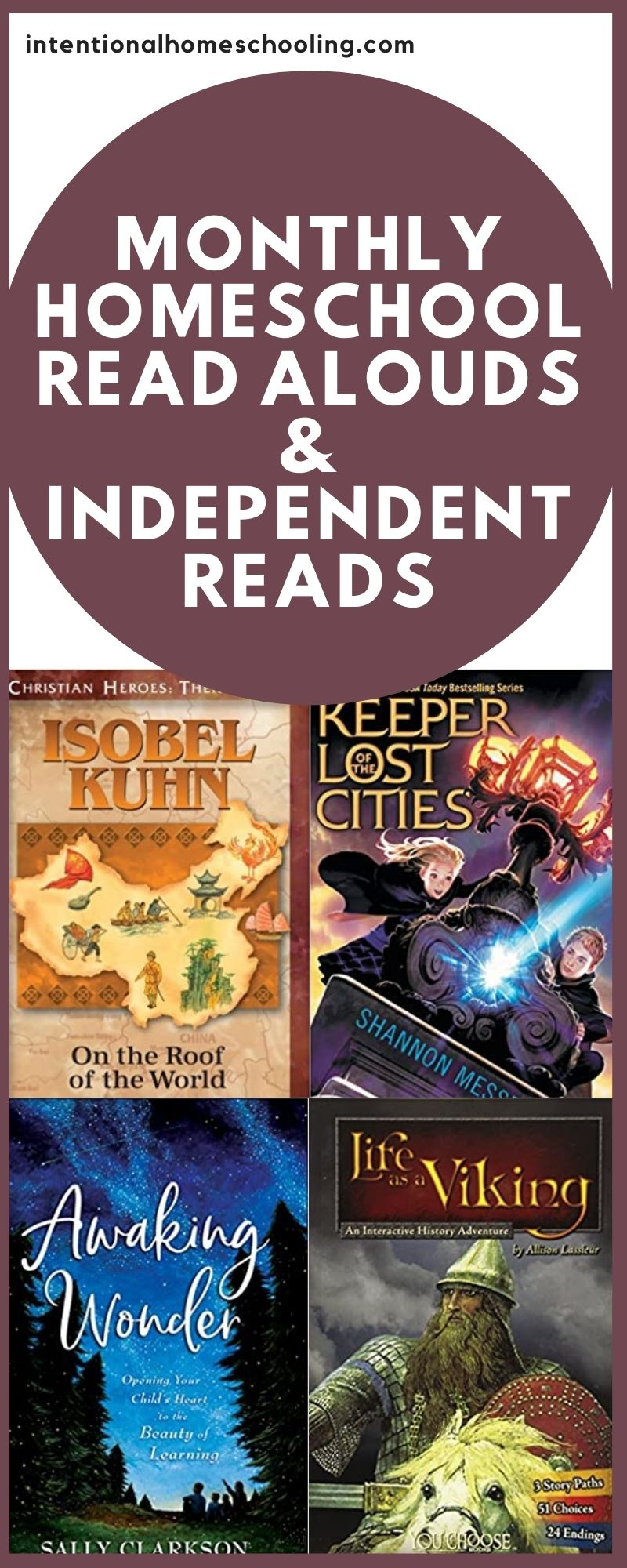 Our Homeschool Monthly Reading Wrap Up - our monthly read alouds and independent reads