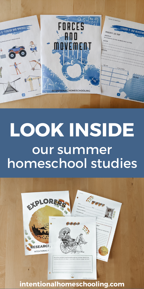 Our Summer Homeschool Plan and a Look Inside the Units We're Going to Be Using This Summer