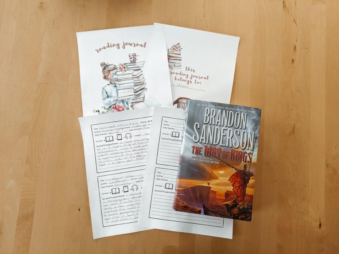Adult & Kids Reading Journals