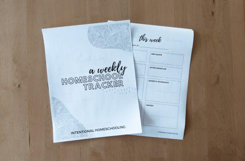 Homeschool Weekly Tracker Printable