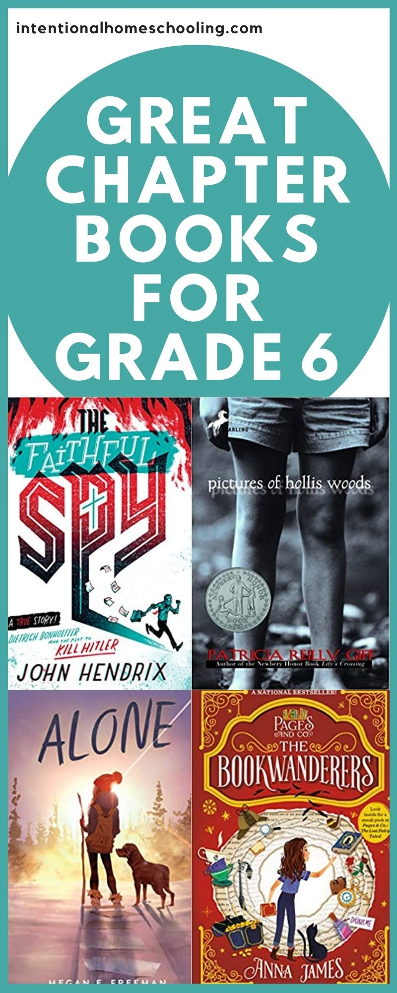 Middle Grade Book Recommendations for Grade 6 - a great middle grade book list