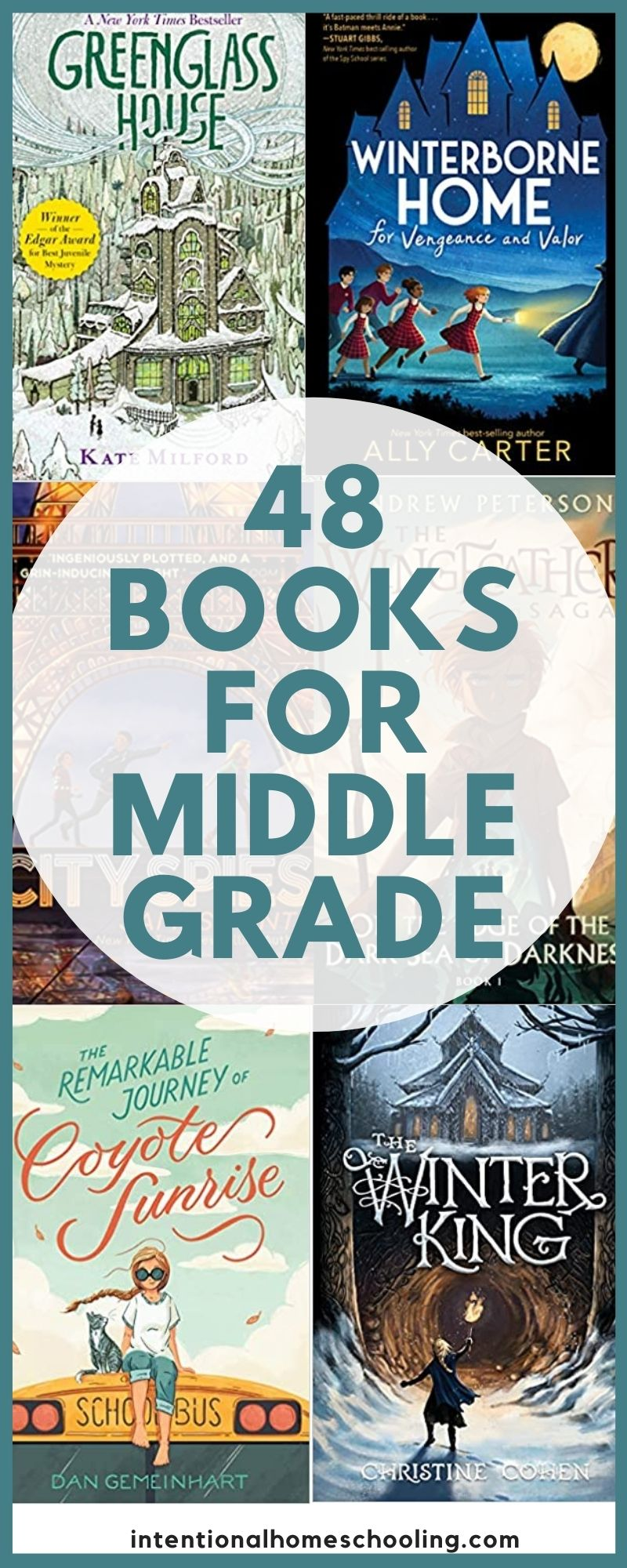 48 Books for Middle Grade - lots of middle grade fantasy, mystery and historical fiction