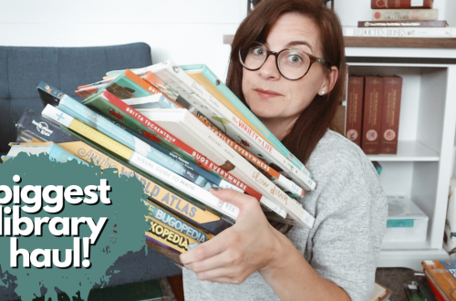 Huge Homeschool Library Haul - a look at the picture books and resources books we've checked out in our homeschool lately