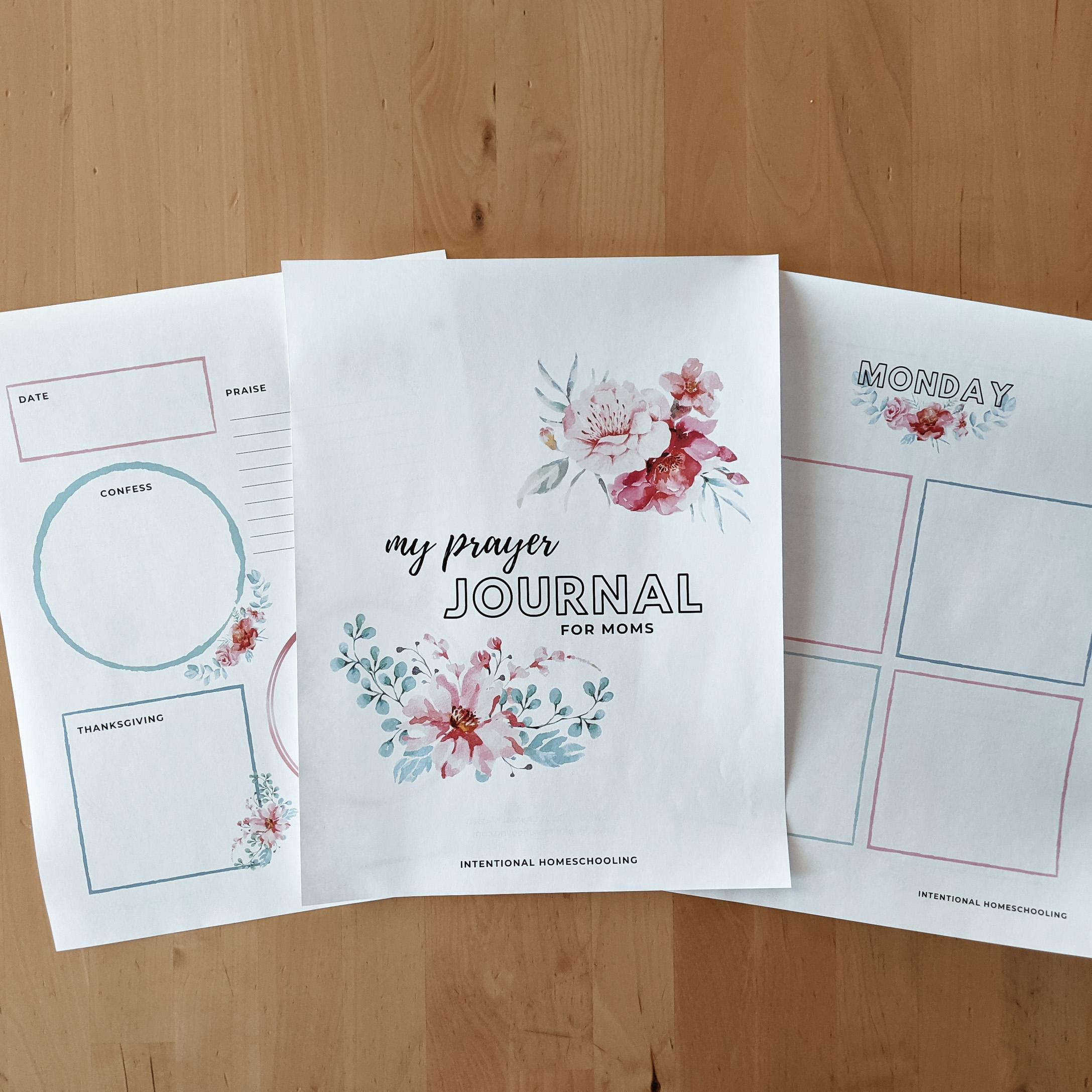 Printable Prayer Journal for Moms