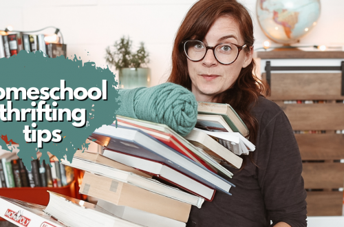 TIPS FOR THRIFTING HOMESCHOOL RESOURCES & some of our favorite thrifted resources & a mini haul