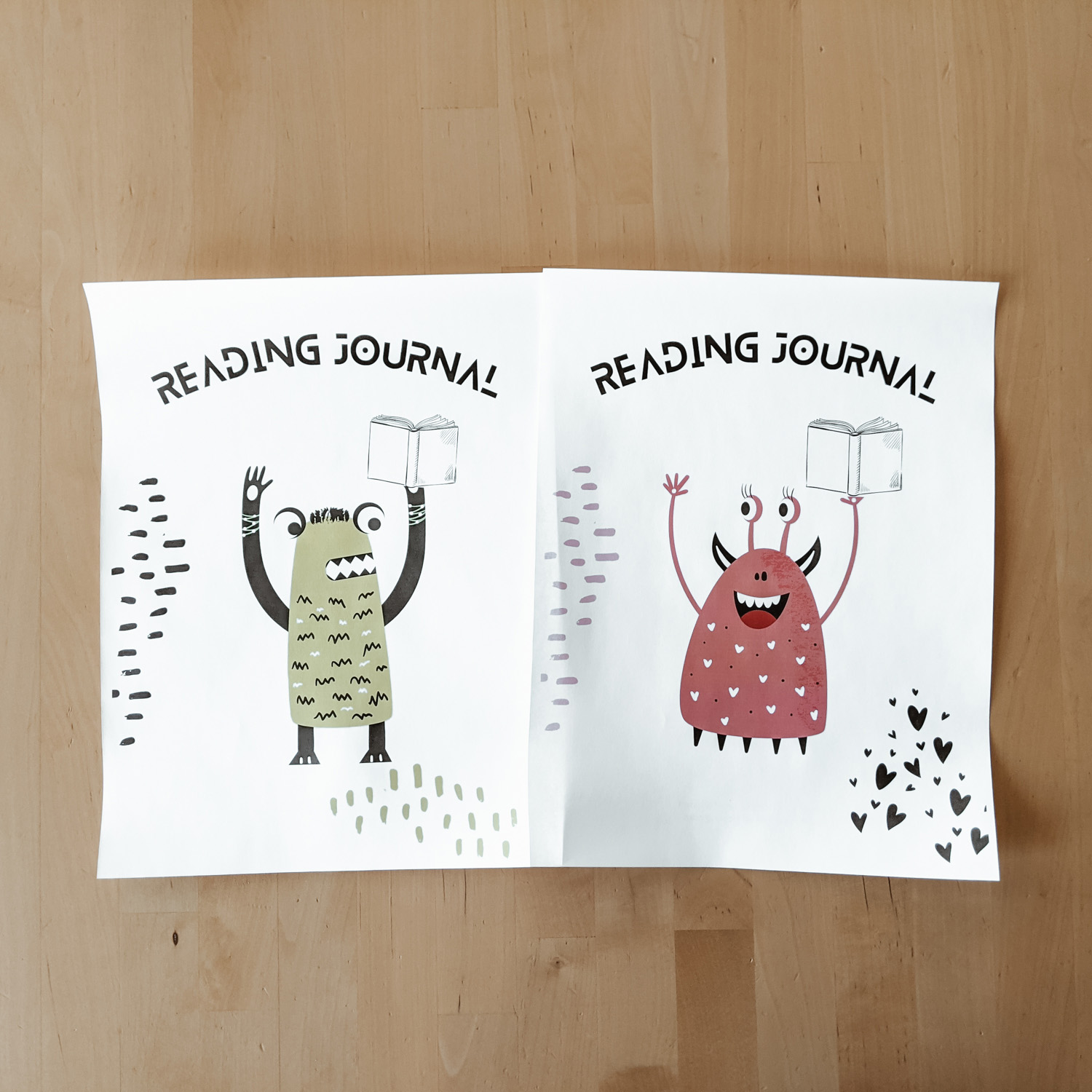 Adult & Kids Reading Journals - a book and reading tracker for adults and kids